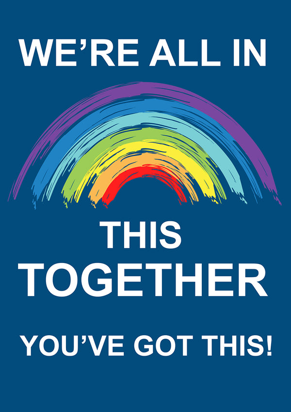 We are all in this together - Blue Bin Stickers