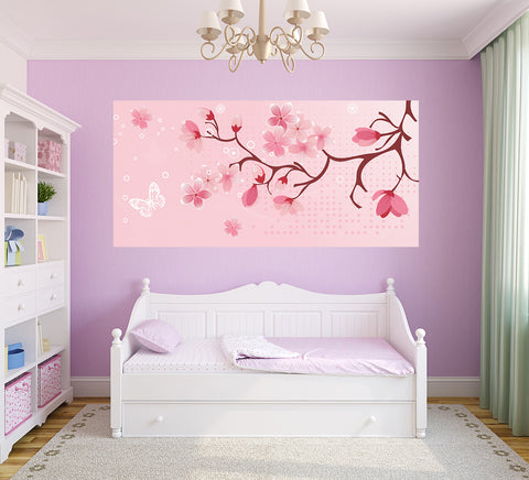 Cherry Blossom - Half Wall Mural