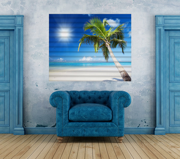 Island Breeze - Corrugated Iron Print