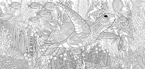 Turtles Paradise - Half Wall Mural