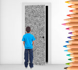 Colour Me - Flowers  - Door Mural