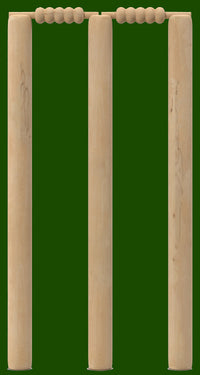 Cricket Stumps Green - Bin Sticker