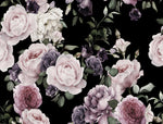 Dark Floral - Full Wall Mural
