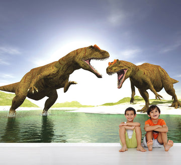 Dino Fight - Full Wall Mural