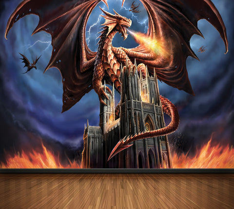 Dragon Fury - Full Wall Mural