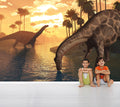 Dino Sunset - Full Wall Mural