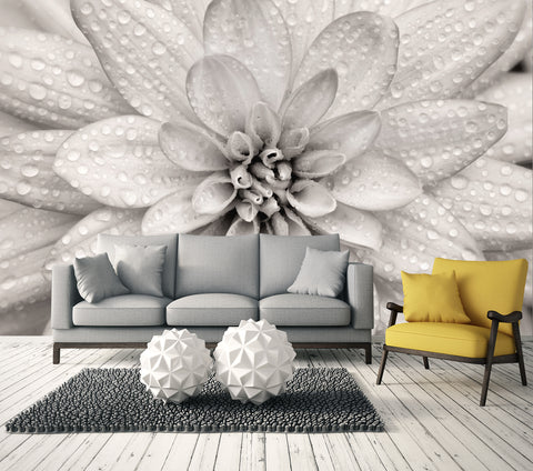 Elegant Bloom   Full Wall Mural