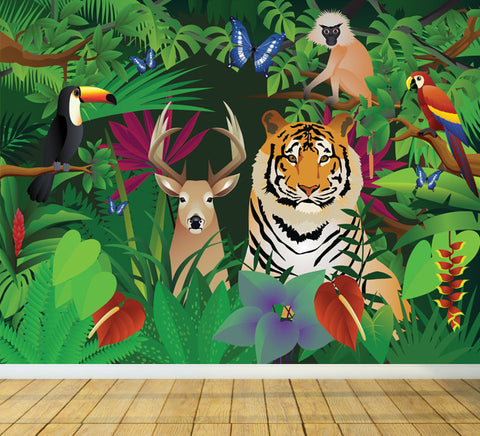 Enter the Jungle - Full Wall Mural