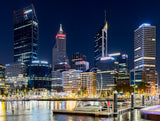Elizabeth Quay by night - Full Wall Mural