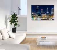 Elizabeth Quay by night - Acrylic Print