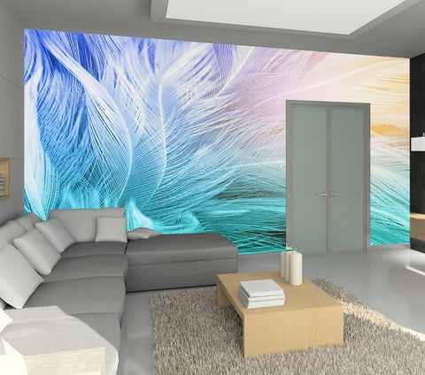 Feathers - Full Wall Mural