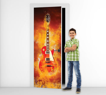 Flaming Rock -  Door Mural