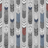 Native American Feather Stripes Blacks, Blues, Reds/Burgundy Wallpaper