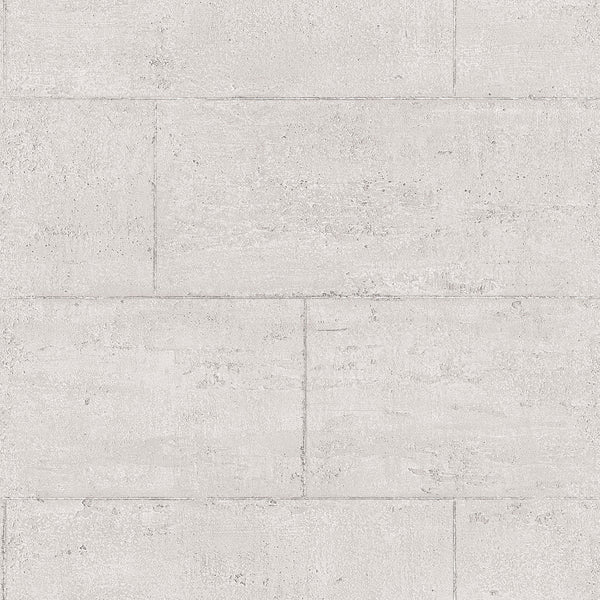 Large Stone Blocks Greys/Silvers Design Wallpaper