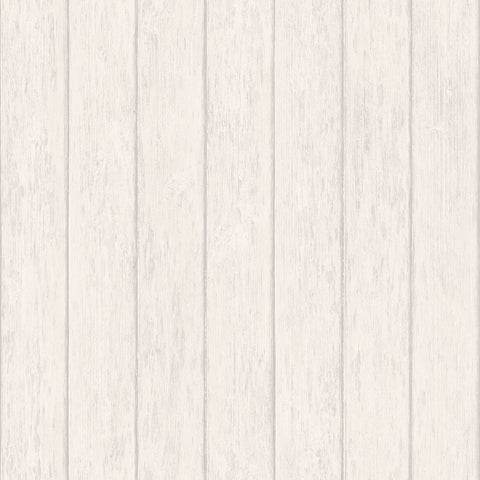 Wood Panelling Creme Design Wallpaper