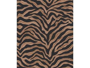 Zebra Print Black & Brown Natural FX Wallpaper