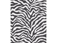 Zebra Print Black & White Natural FX Wallpaper