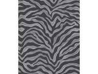 Zebra Print Black Grey Natural FX Wallpaper