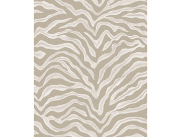 Zebra Print Beige Natural FX Wallpaper