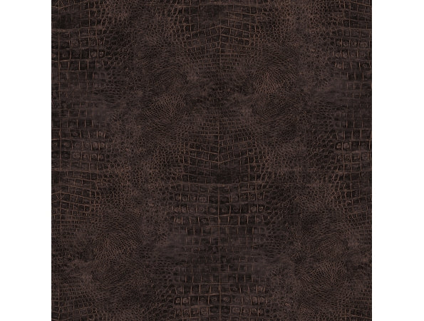 Crocodile Skin Brown Natural FX Wallpaper