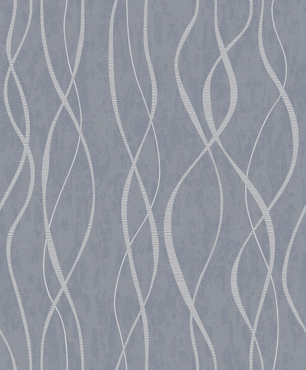 Contemporary Swirl Ribbon Special FX Wallpaper