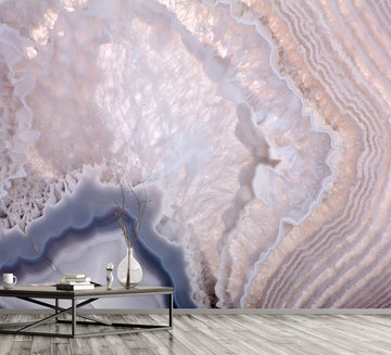 Geode Lilac - Full Wall Mural