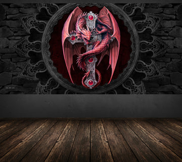 Gothic Guardian - Anne Stokes - Half Wall Mural