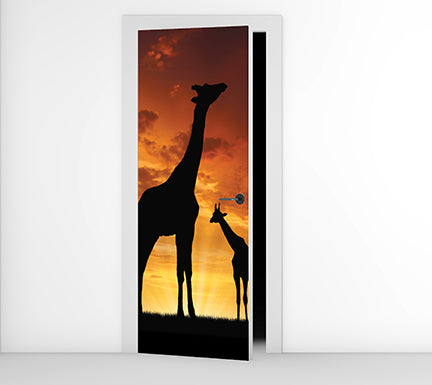 Grace's Giraffe - Door Mural
