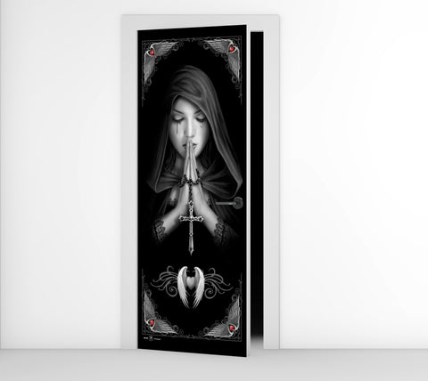 Gothic Prayer - Anne Stokes - Door Mural