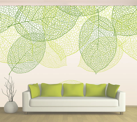 Green Leaves - Full Wall Mural