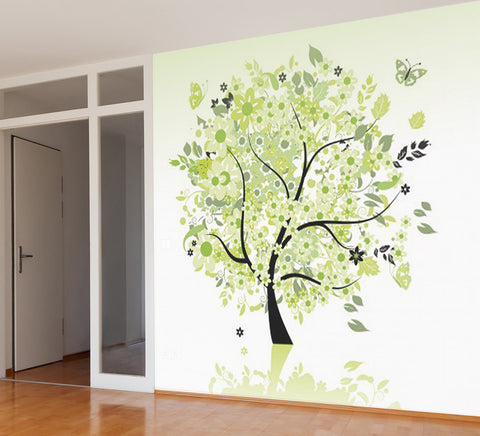 Green Tree - Full Wall Mural