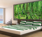 Green Woods - Half Wall Mural
