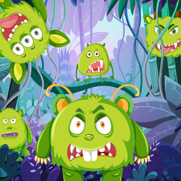 Jungle Monsters 1000 x 1000 Fun Shoot Target