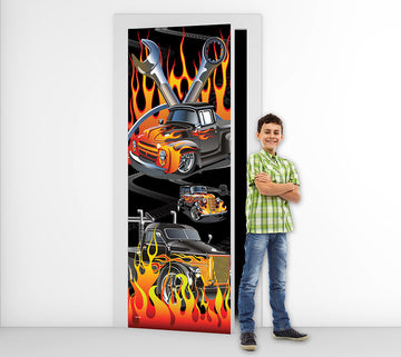 Hot Rod -  Door Mural