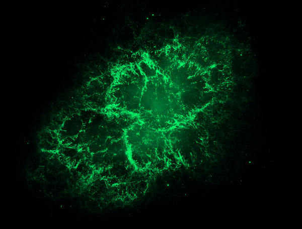 Crab Nebula Green - Full Wall Mural