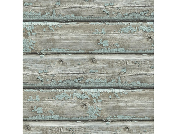 Chipped Wood Wallpaper