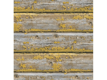 Chipped Wood Yellow Wallpaper