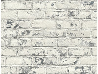 Distressed Brick  IR70108 Modern Foundation Wallpaper