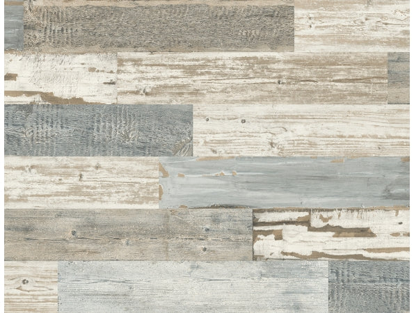 Distressed Wood Tile IR71502 Modern Foundation Wallpaper