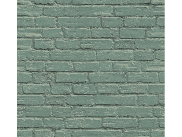 Bricks Green IR72004 Modern Foundation Wallpaper