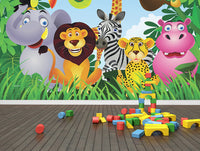 Jungle Party - Full Wall Mural