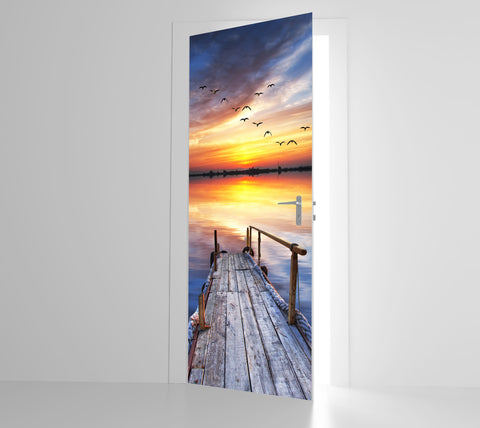 Jetty Sunset - Door Mural