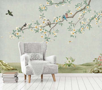 Listen to the Birds - Full Wall Mural