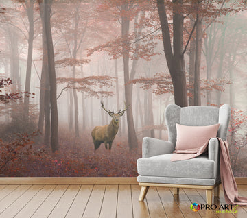 Misty Forest - Full Wall Mural