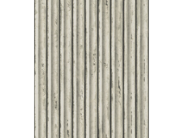 Weathered Metal Mixed Materials Wallpaper