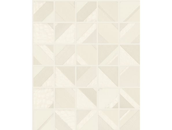 Patchwork Tile Mixed Materials Wallpaper