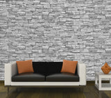 Natural Stone BW - Full Wall Mural
