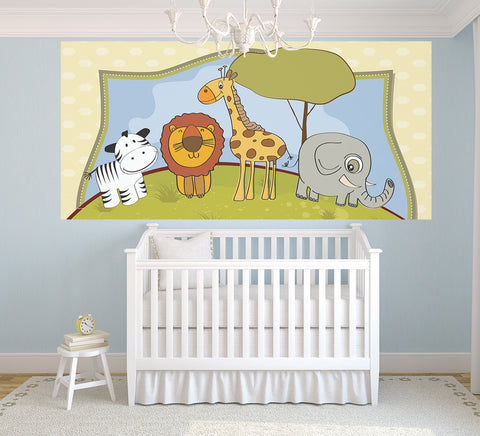 Nursery Friends - Half Wall Mural