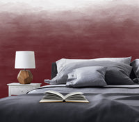 Ombre - Burgundy - Full Wall Mural