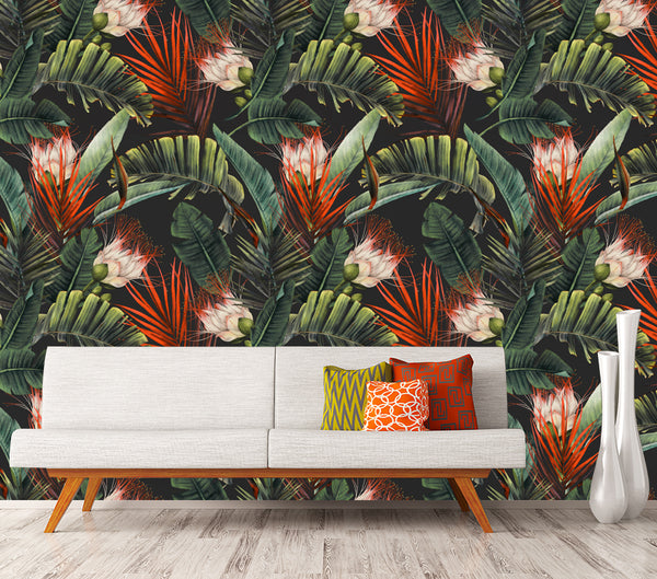 Orange Spring - Full Wall Mural